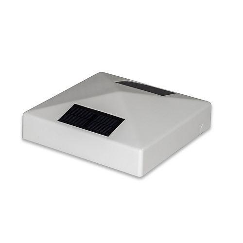 Classy Caps 5 inch x 5 inch White PVC Pyramid Solar Post Cap