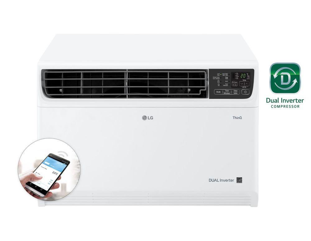14,000 BTU 115-Volt Dual Inverter Smart Wi-Fi Window Air Conditioner with Remote