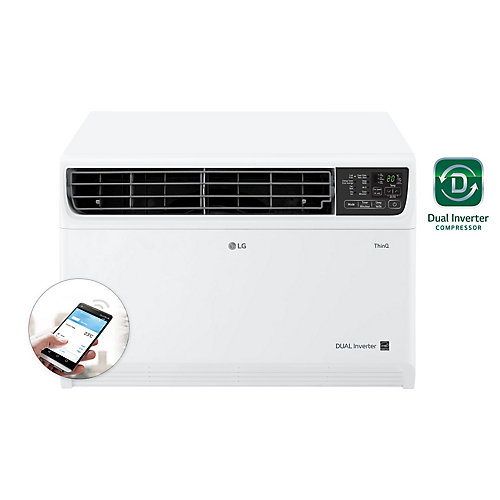 14,000 BTU 115-Volt Dual Inverter Smart Wi-Fi Window Air Conditioner with Remote