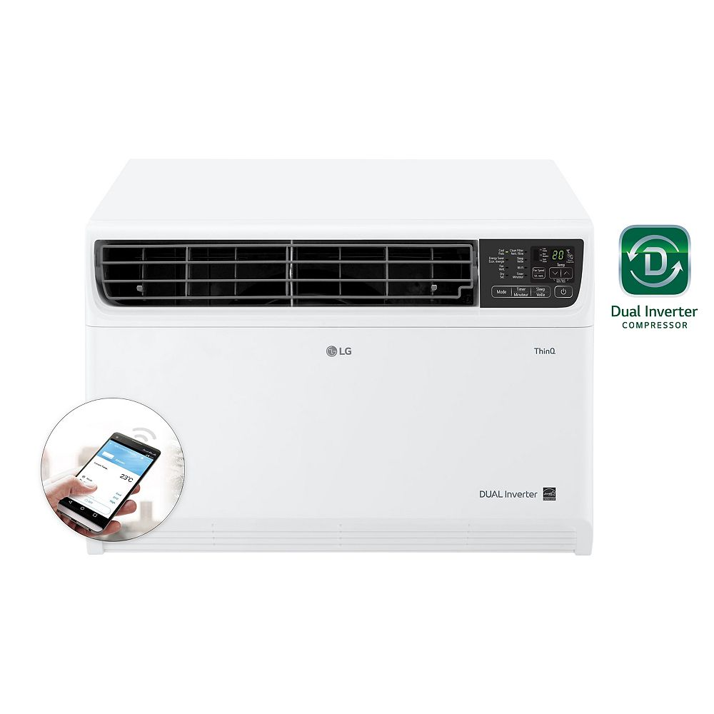 LG Electronics 14,000 BTU 115-Volt Dual Inverter Smart Wi-Fi Window Air Conditioner with Remote