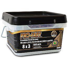 #8 x 3-inch Star Drive PRO-FAST(TM) Premium Deck Screws in Brown - 700pcs