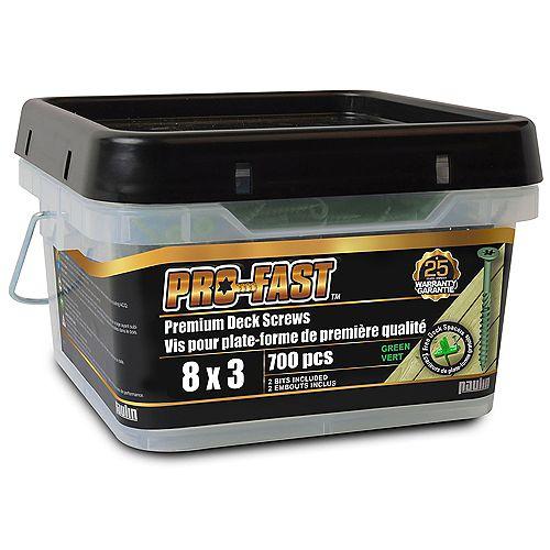 8X3 Pro Deck Green 700-Piece
