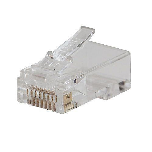 Pass-Thru Modular Data Plugs, RJ45 CAT5E (10-Pack)