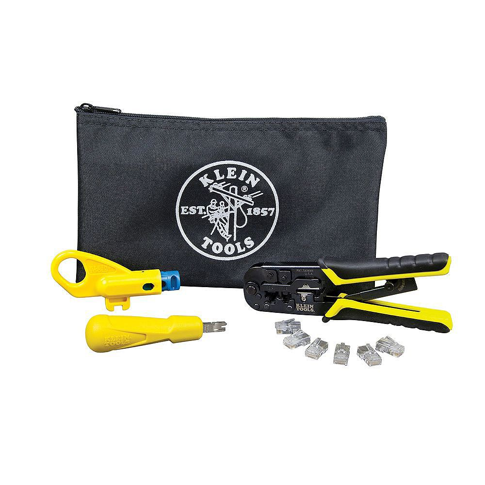 Klein Tools Twisted Pair Installation Kit with Zipper Pouch