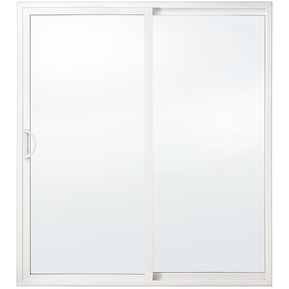 JELD-WEN Windows & Doors Porte-patio haut de gamme de, 5 pi. en vinyle, verre triple Low-E, ouv. vers la droite / DF - ENERGY STAR®