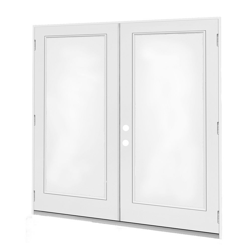 JELD-WEN Windows & Doors 6 pi. Porte jumelle, 1 carr Low-E argon, penturée à droite, ouv. ext., jambage 4 9/16 po / DF - ENERGY STAR®