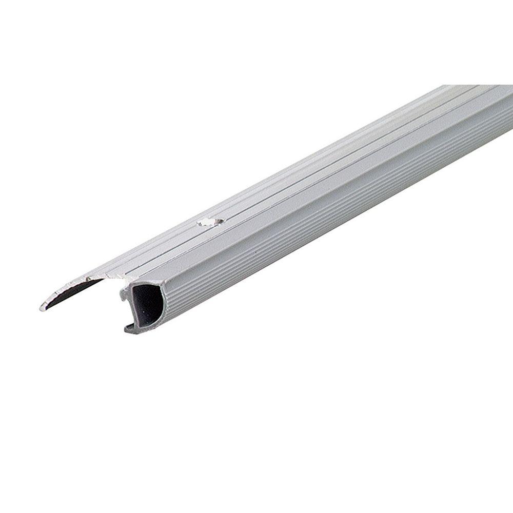 M-D Building Products 13/4po x 1/2po x 36po Coupe-froid en aluminium et vinyle, à profil bas, pour seuils de porte avec amortisseur - Gris