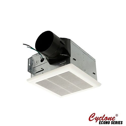 "Cyclone Hustone bath fan, 90 CFM, 2 sones, 4"" collar, easy to install exhaust fan"