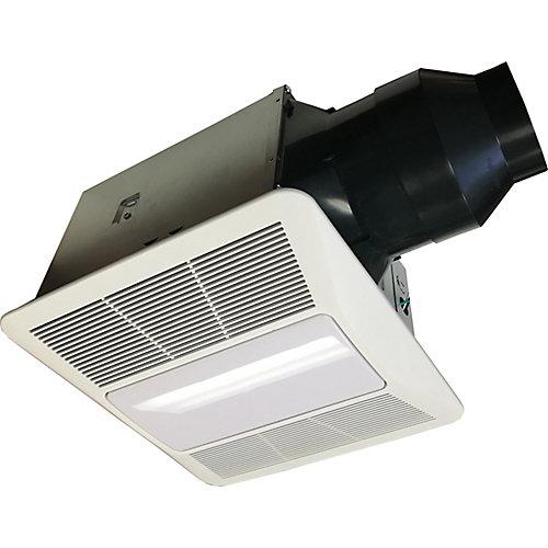 Quiet Series, 80 Cfm, 0.5 Sones, Bath Fan With Humidity Sensor And Light