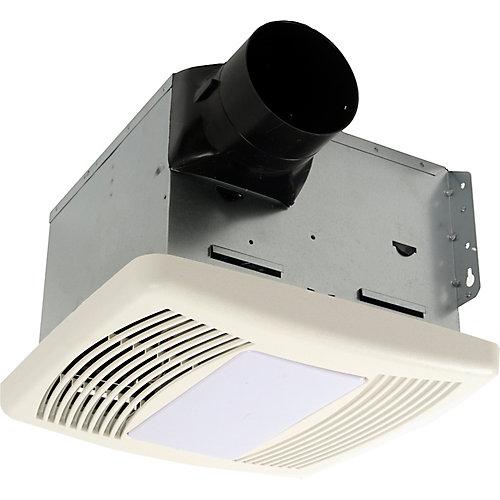 Quiet Series, 150 Cfm, 1.1 Sones, Bath Fan With Humidity Sensor And Light