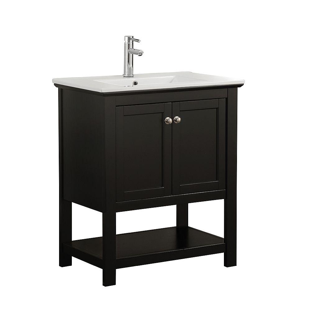 Jade Bath Sloan 28 Inch Single Freestanding Modern Grey Bathroom 3 Piece Vanity Set The Home Depot Canada