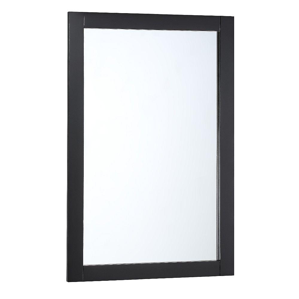 Fresca Bradford 20 in. W x 30 in. H Framed Wall Mirror in Black Finish