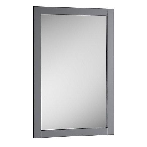 Bradford 20 in. W x 30 in. H Framed Wall Mirror in Gray Finish