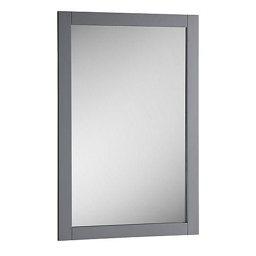 Bradford Miroir 20 po. X 30 po. mural encadré en fini gris