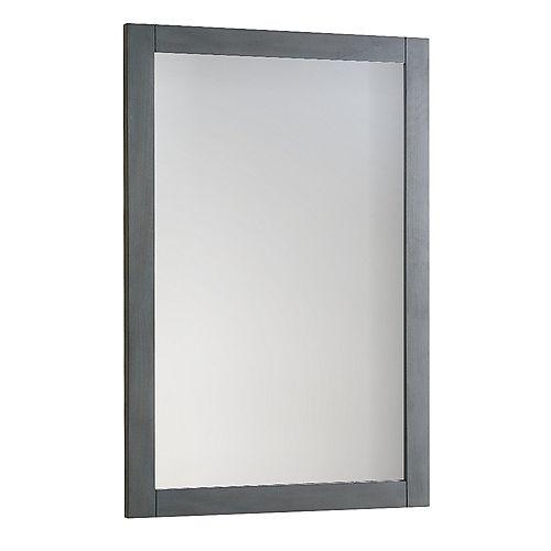 Fresca Bradford Regal Miroir 20 po. X 30 po. mural encadré en fini gris