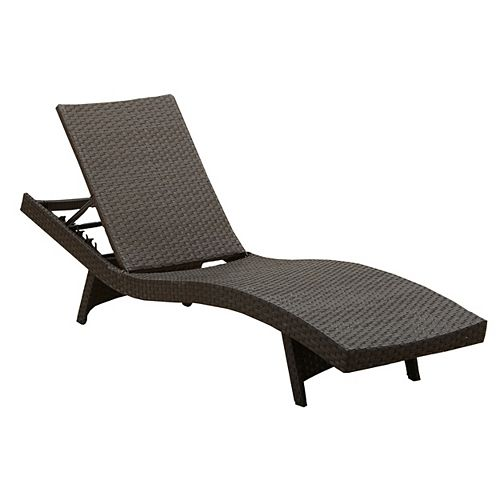 Albany Wicker Patio Chaise Lounge