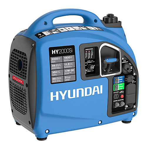 2000 Watt Portable Gasoline Inverter Generator, USB