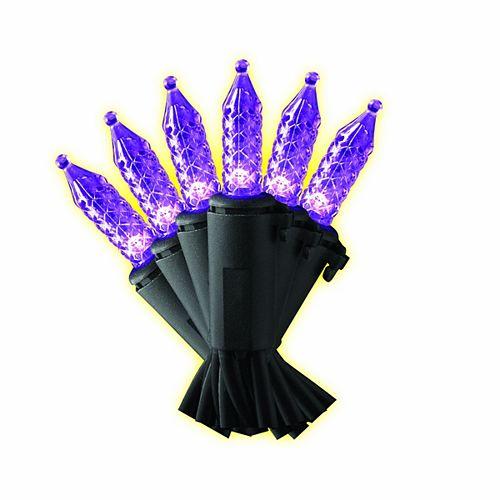 100-Light Purple Led Faceted M5 Loween Lights