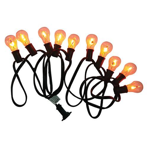 10-Light Flickering Flame A30 Loween Lights