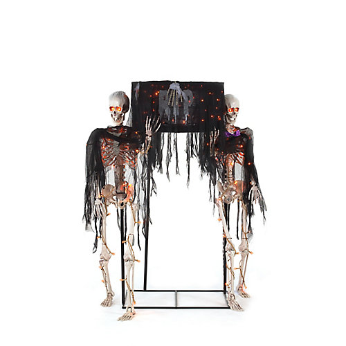 Skeletons Carrying Coffin Halloween Decoration