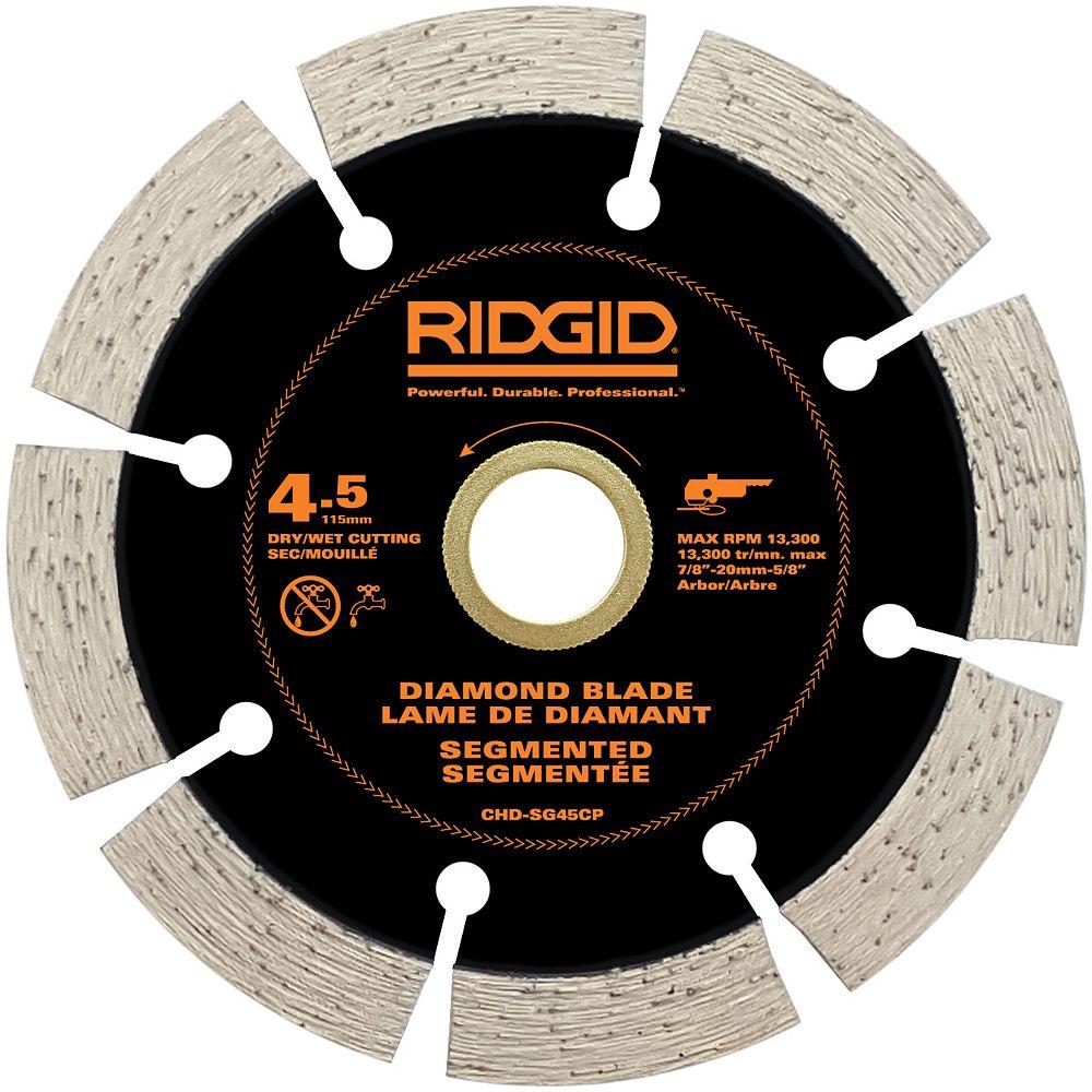 RIDGID 4.5 inch Segmented Diamond Blade