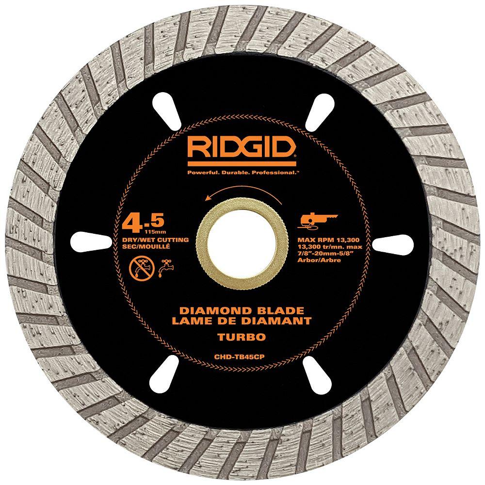 RIDGID 4.5 inch Turbo Diamond Blade