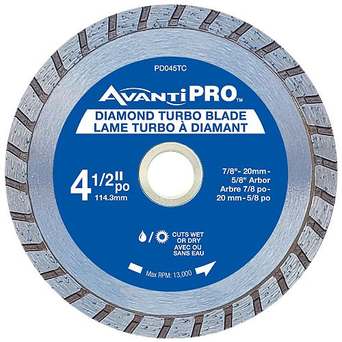 4.5 inch Turbo Diamond Blade