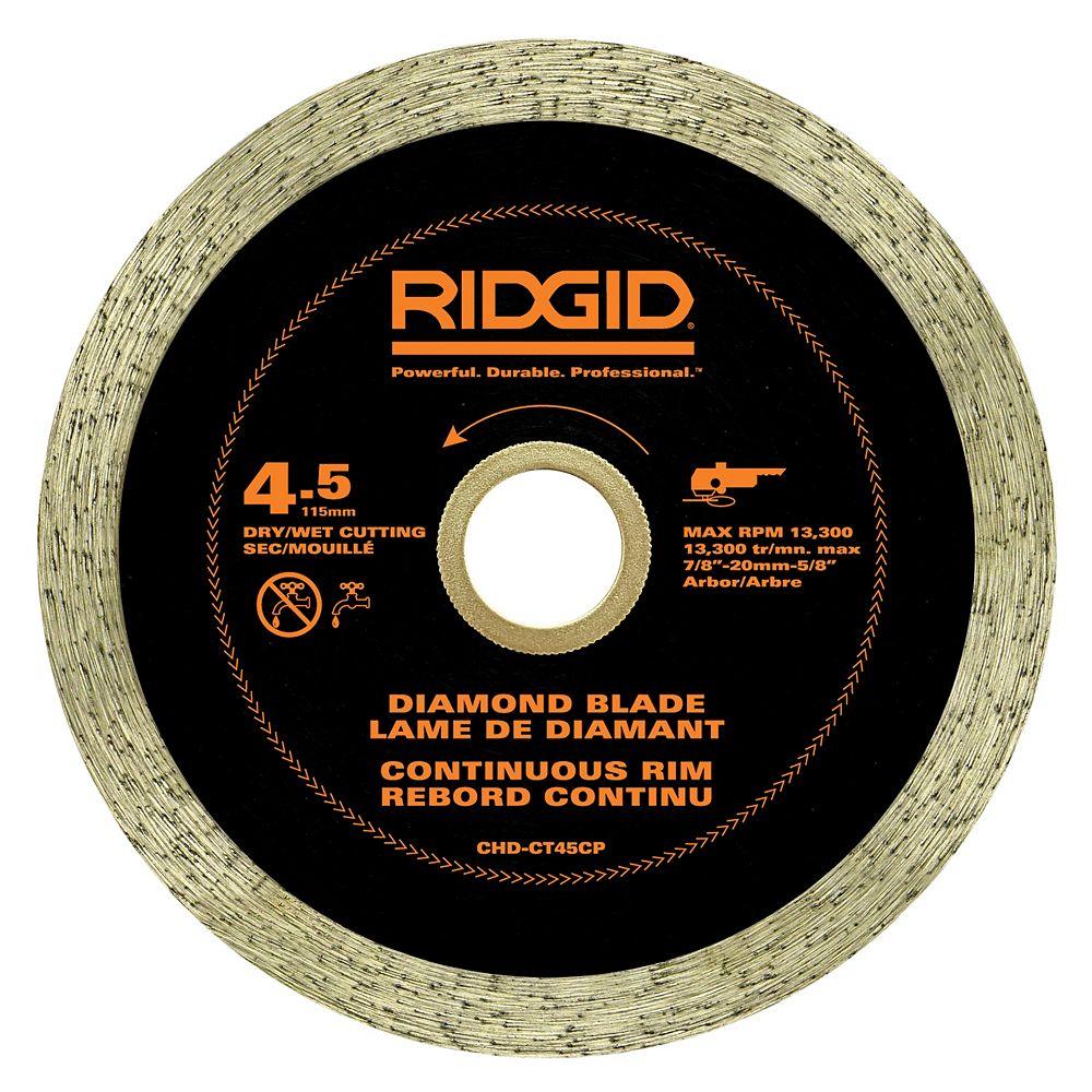 RIDGID 4.5 inch Continuous Rim Diamond Blade