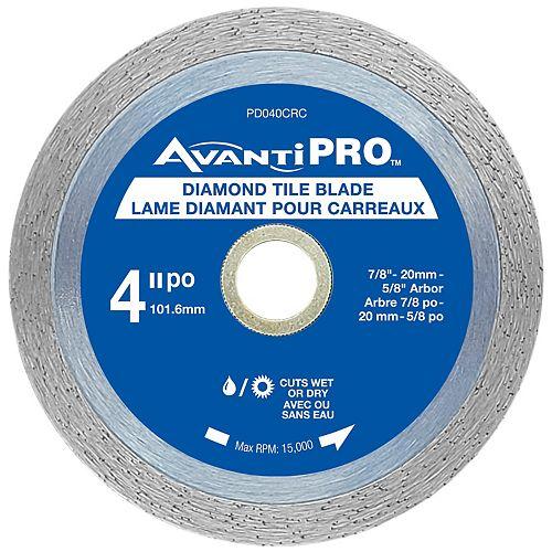 4 inch Continuous Rim Diamond Blade