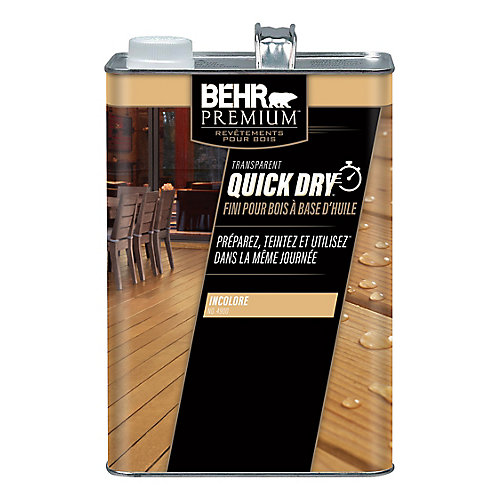 Quick Dry Exterior Oil Based Wood Finish in Clear