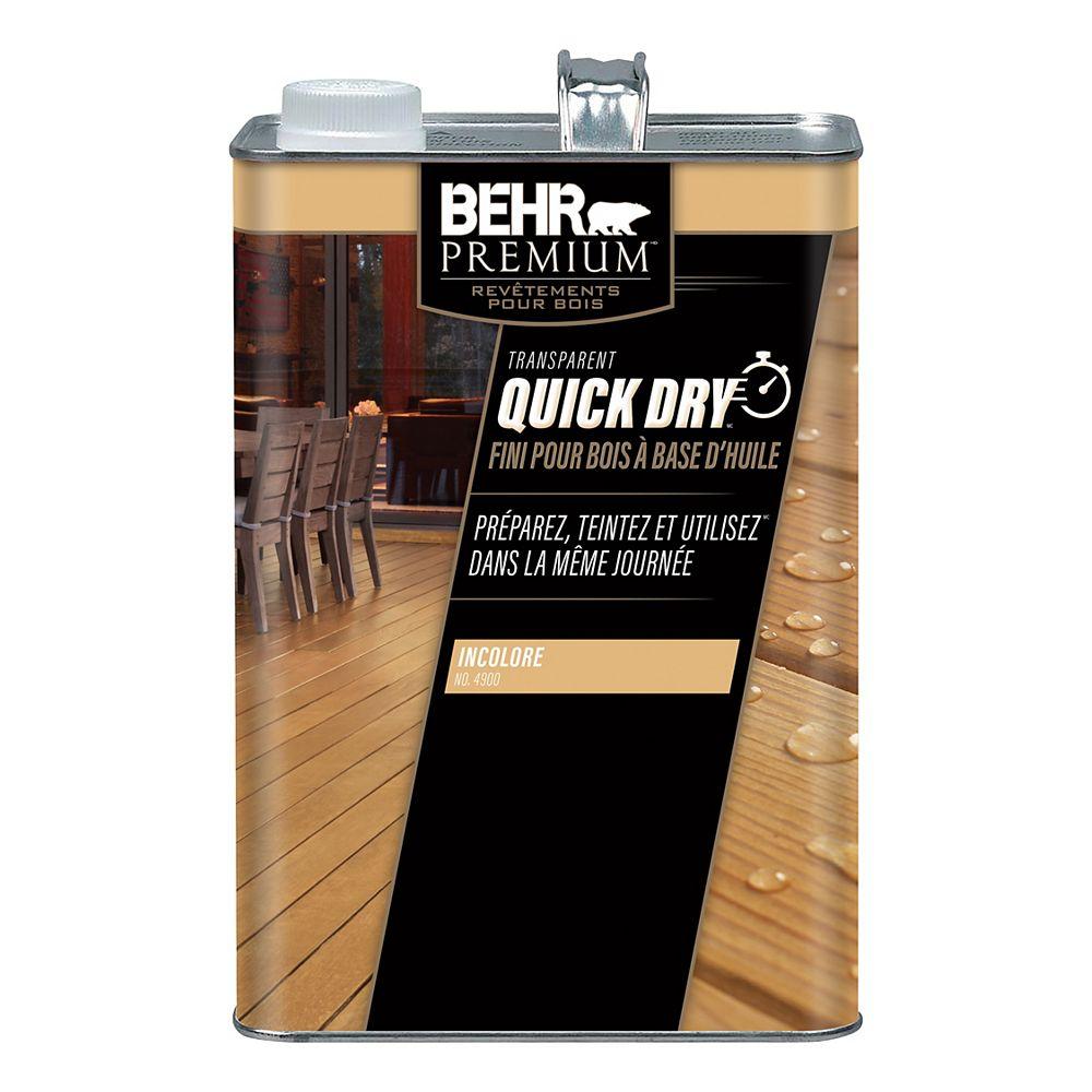 Behr Premium Fini pour bois à base d'huile Qick Dry, transparent