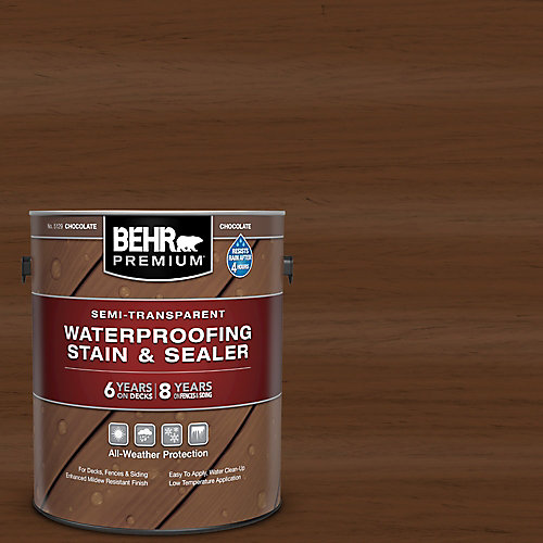 Semi-Transparent Waterproofing Chocolate Stain & Sealer, 3.79L