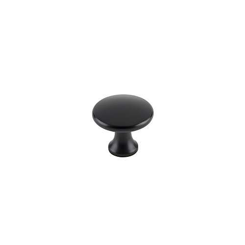 Contemporary Metal Knobs 1 5/32 inch. (29 mm) Dia - Matte Black - Nanton Collection (10-Pack)