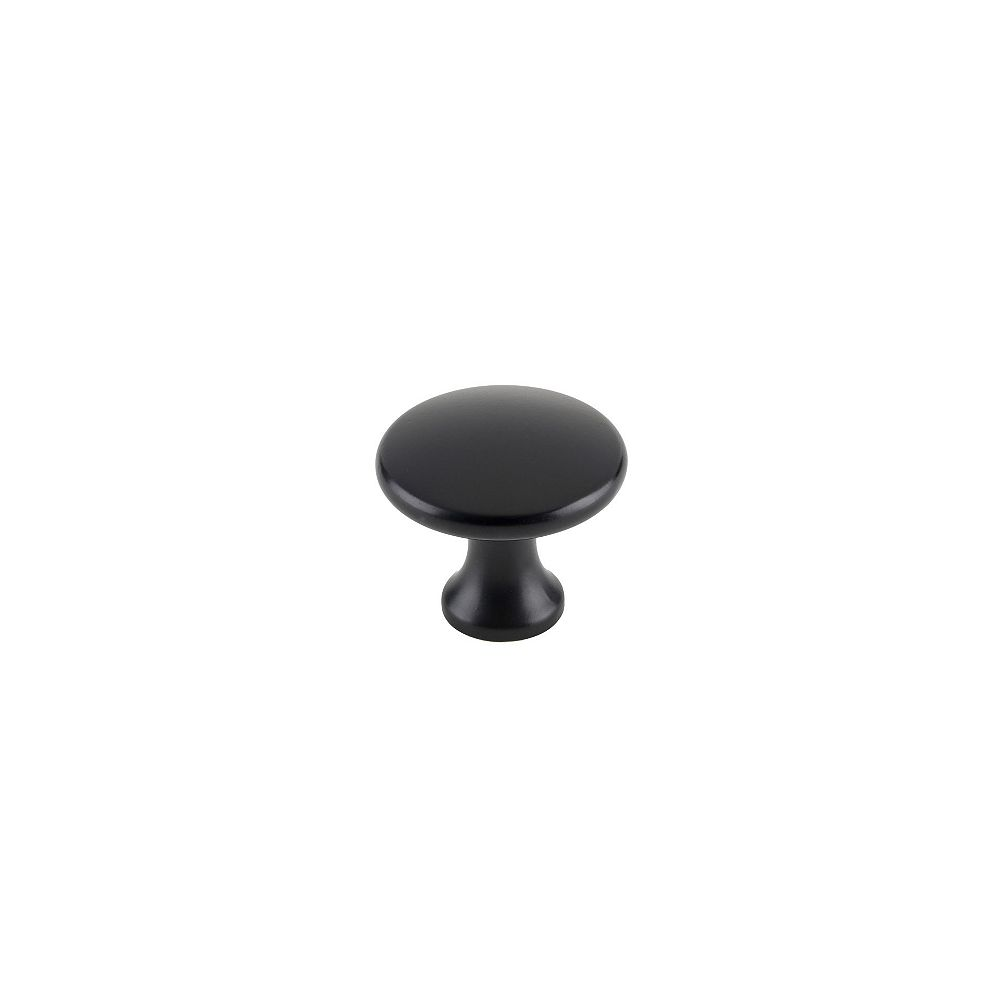 Richelieu Contemporary Metal Knobs 1 5/32 inch. (29 mm) Dia - Matte Black - Nanton Collection (10-Pack)
