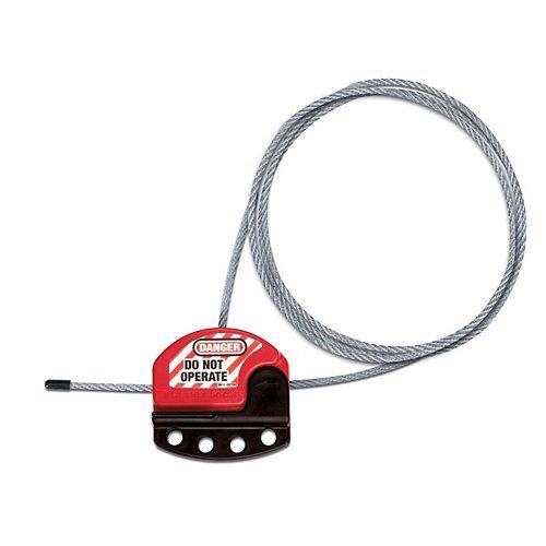 Master Lock Dispositif de verrouillage à câble réglable de 1,8m (6pi)