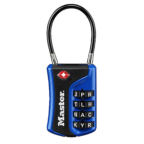 1-3/8 inch. Set Your Own Numeric Combination TSA-Accepted Luggage Lock with Flexible Shackle; Assrtd