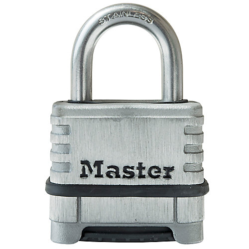 2-1/4 inch(57mm) Wide Stainless Steel Padlock with 1-1/16 inch(27mm)Shackle Set Your Own Combination