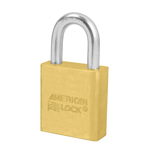 American Lock 1-3/4 inch (44mm) Solid Brass Pin Tumbler Padlock