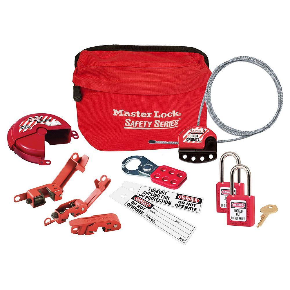 Master Lock Safety Lockout Kit, General Lockout Focus with 410 Zenex; Safety Padlocks