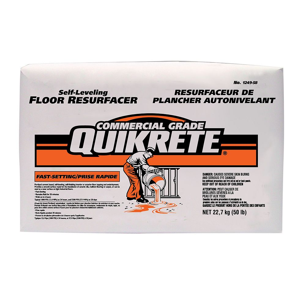 Quikrete 23kg Quikrete Fast Setting Self Levelling Floor Resurfacer The Home Depot Canada