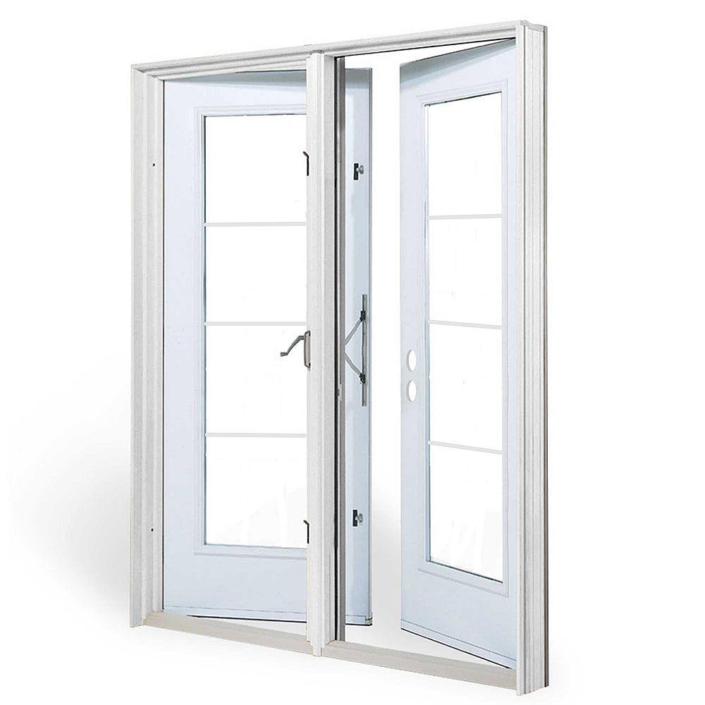 JELD-WEN Windows & Doors 5 pi. Porte jardin, 4 carr Low-E argon, penturée à gauche, ouv. ext., jambage 4 9/16 po / WC - ENERGY STAR®
