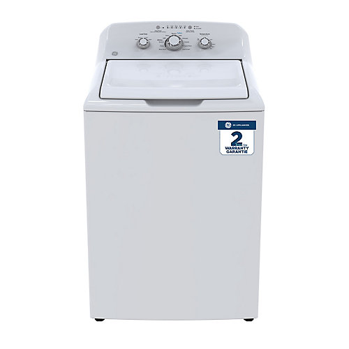 White 4.4 c.f. (IEC) Stainless Steel basket top load washer