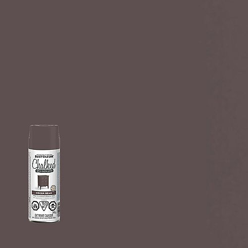 Rust-Oleum Chalked Ultra Matte Paint In Cocoa Bean, 340G Aerosol Spray Paint