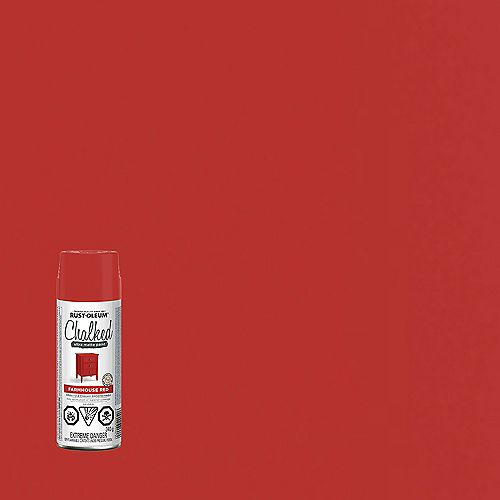 Peinture Ultra Mate Crayeuse En Rouge Champêtre - 340 G Aerosol