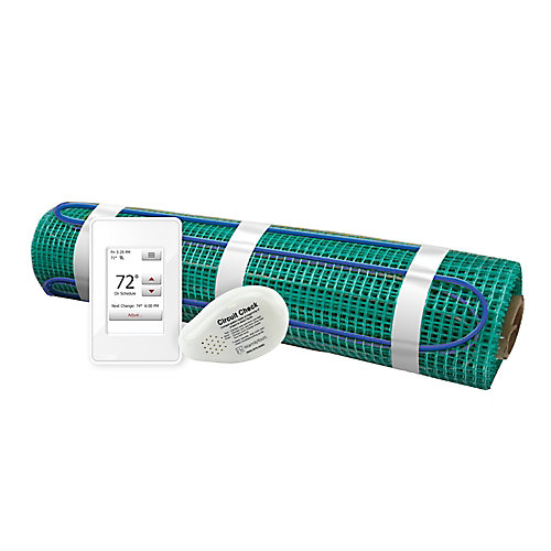 Tempzone 3 ft. x 5 ft. 120V Easy Mat Floor Heating Kit with Wi-Fi Thermostat (15 sq. ft.)