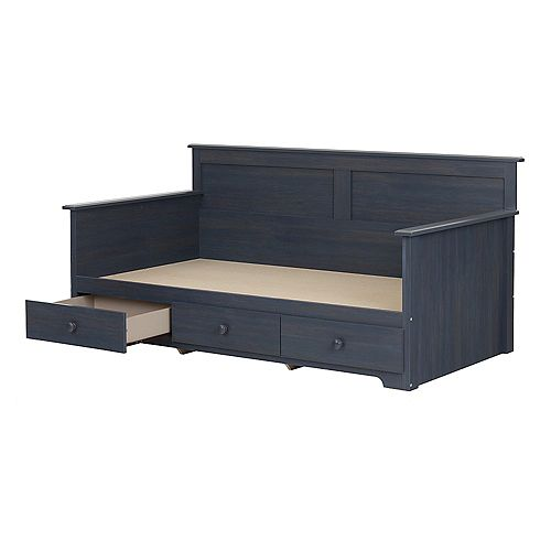 """Summer Breeze Twin Daybed with Storage (39""""), Blueberry"""