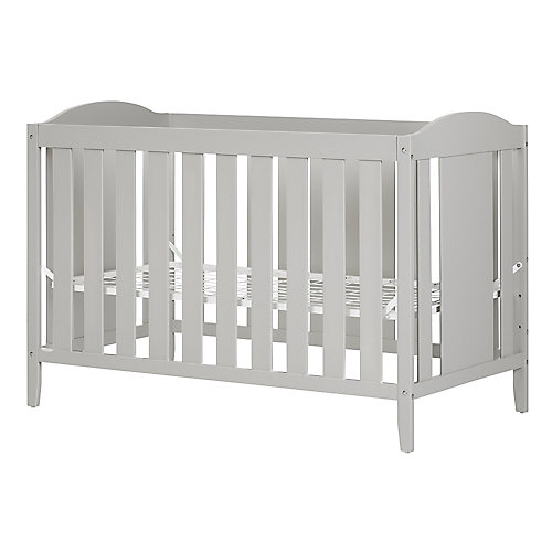Angel Crib with Toddler Rail in Soft Grey