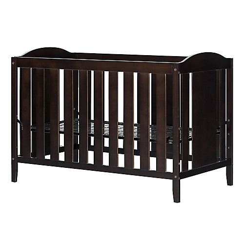 Fundy Tide Crib with Toddler rail, Espresso
