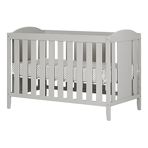 Angel Soft Gray Crib with Toddler rail, and Mattress