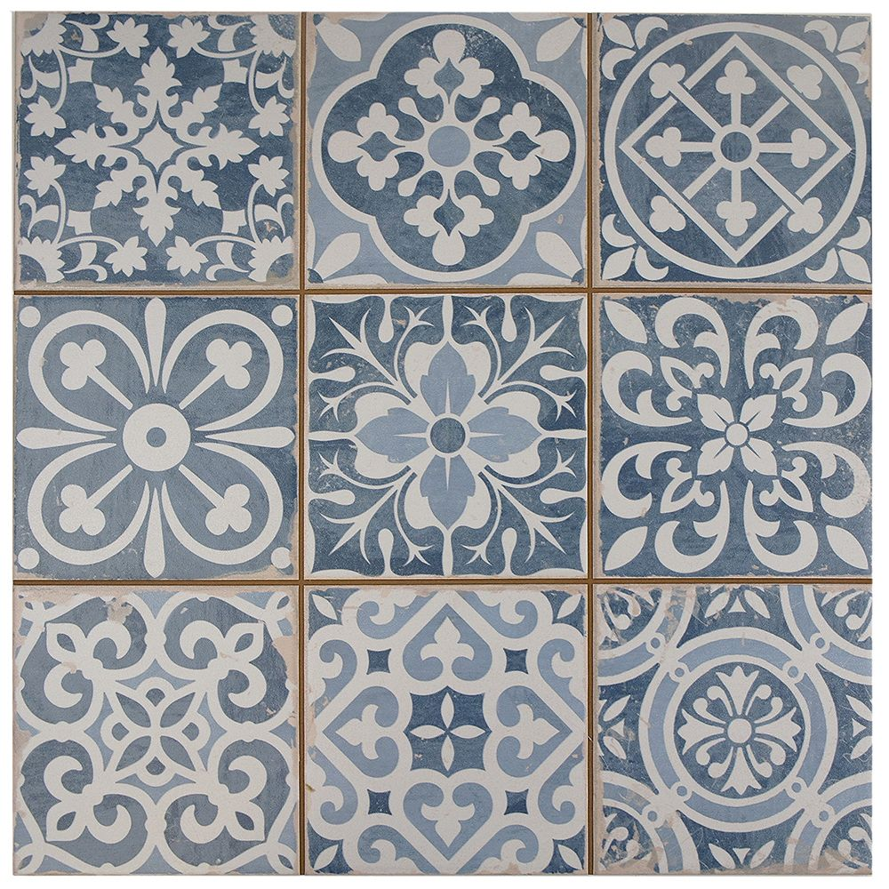 Merola Tile Faenza Azul 13-inch x 13-inch Ceramic Floor and Wall Tile (12.2 sq. ft. / case)